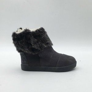 Toms Unisex Boots Gray Round Toe Pull Ons 7 New